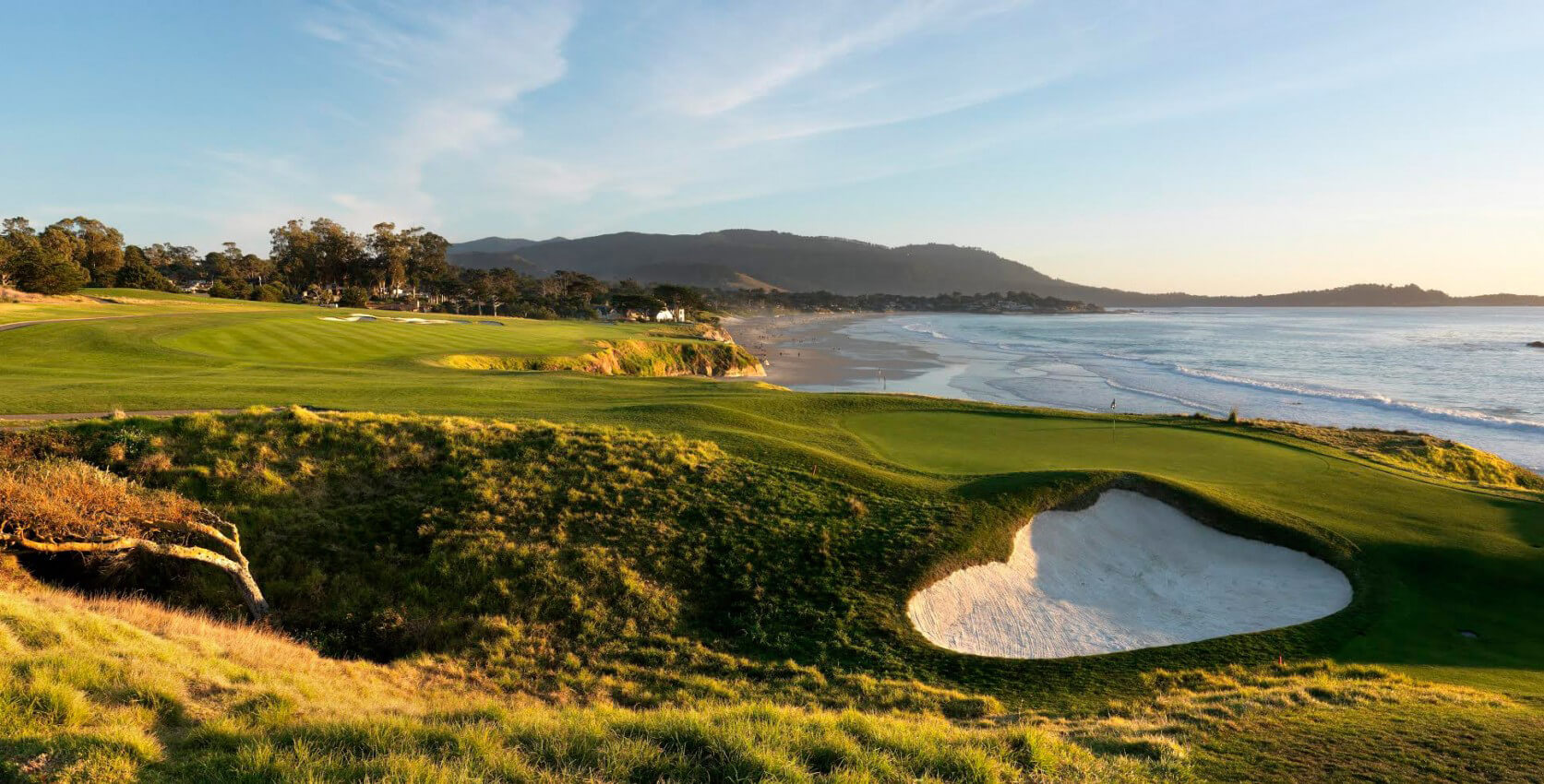 Pebble Beach by the ocean